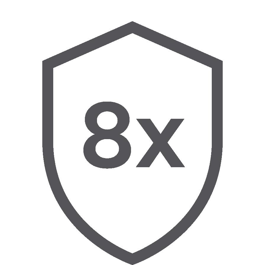 8x bezpečnější